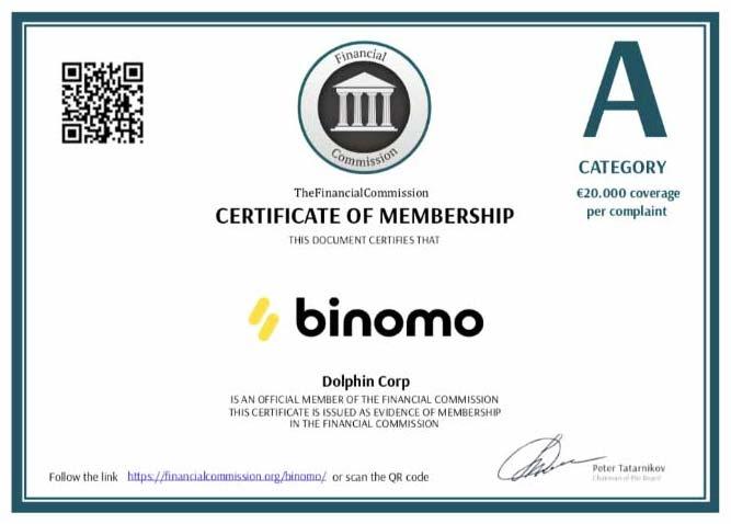 Binomo Vantagem - Regulamento (Autoridade Governamental)