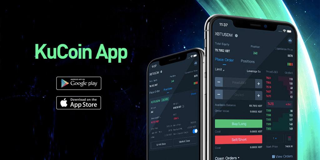 Aplicativo de celular da KuCoin