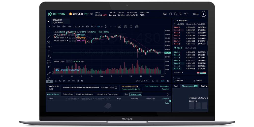 Margin trading de criptomoedas da KuCoin
