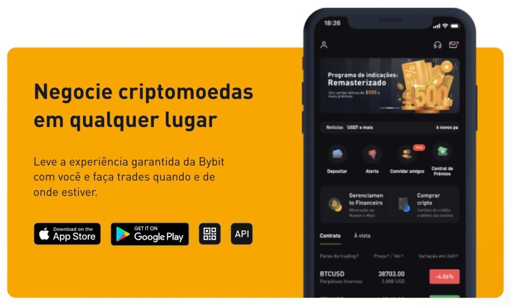 App Móvel da Bybit - iOS & Android